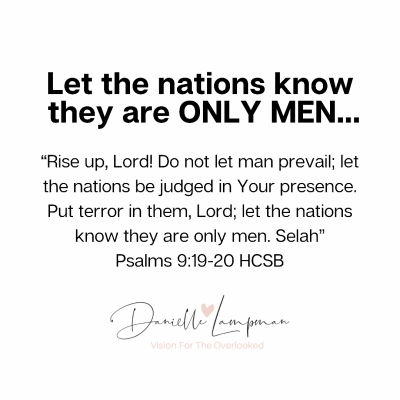 Let the nations know they are ONLY MEN…